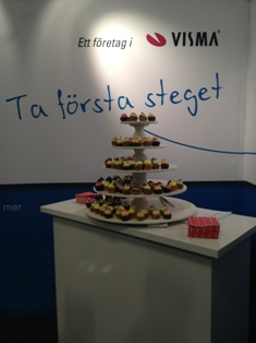 Cupcakes i Visma-montern