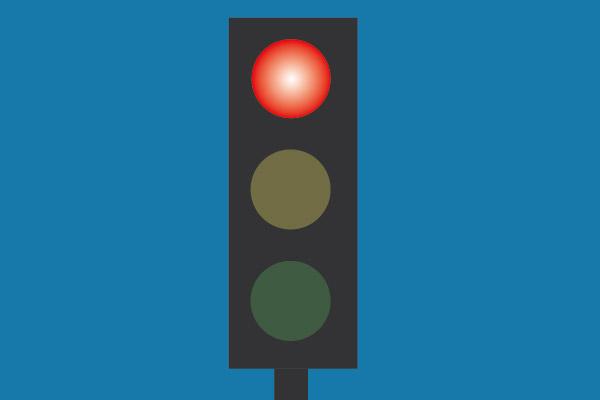Rött ljus utan kundnytta