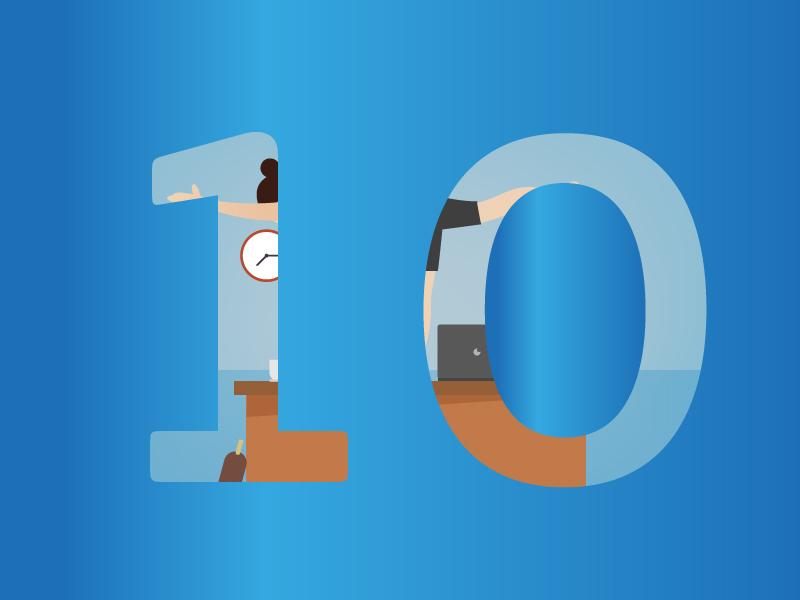 Effektivitetstips nummer 10 - Stå upp för hälsa och effektivitet