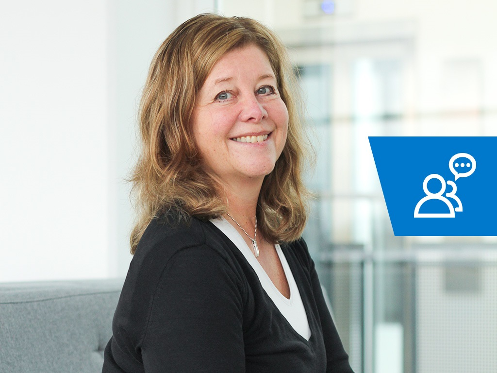 Anna Rebermark jobbar med utvecklingen av Visma Enterprise Community