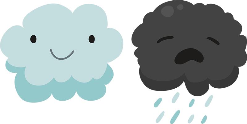 "Pure Cloud och ""ful-moln"". Bild: Terdpongvector / Freepik"