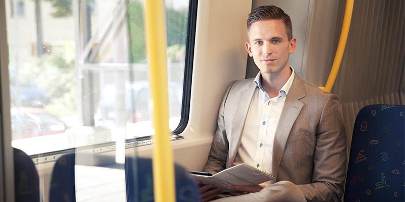 Smart resande ger möjlighet till arbete på vägen, en annan sak som en resepolicy kan främja.