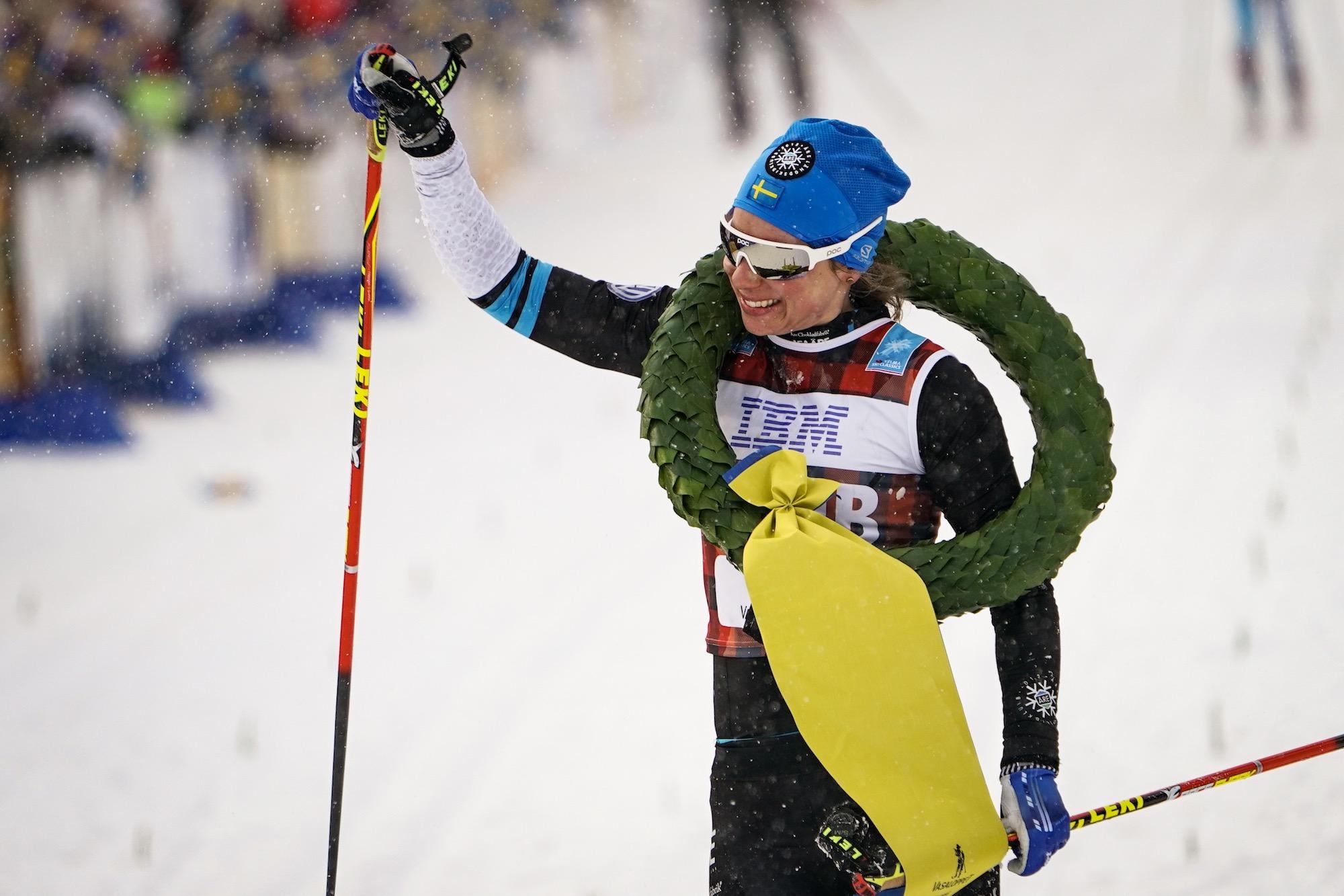 Lina Korsgren vann Vasaloppet 2018.