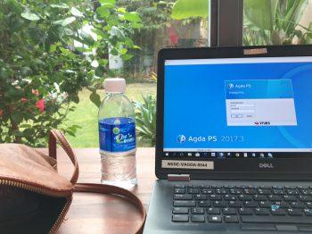 Annes arbetsplats på Bali