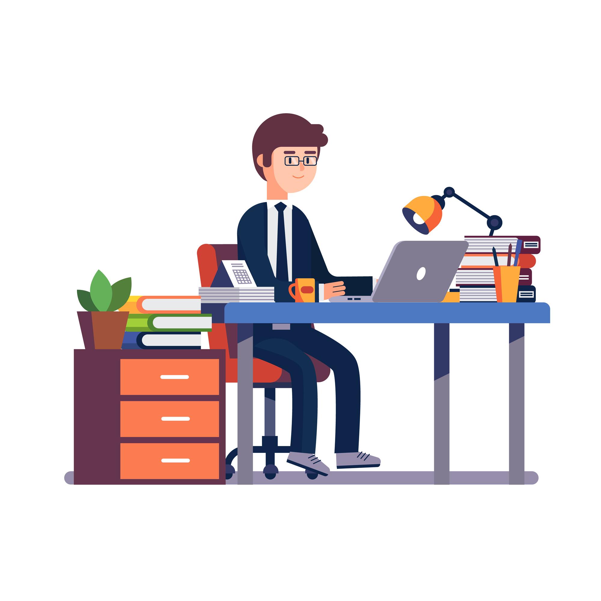 Förbättra din arbetsplats och må bättre. Bild: iconicbestiary / Freepik