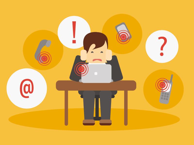 För mycket mejl och telefonsamtal leder till digital stress. Bild: Freepik