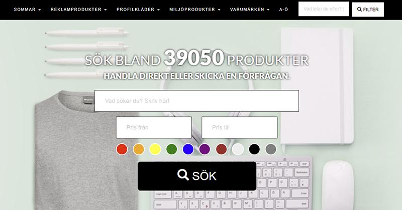 En webbshop, tusentals profilprodukter.