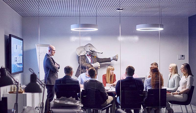 elefanten i mötesrummet