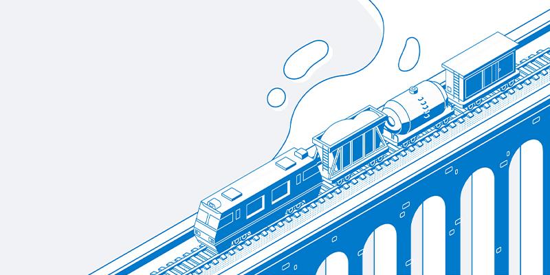 Tåg är ett annat smart sätt att frakta.