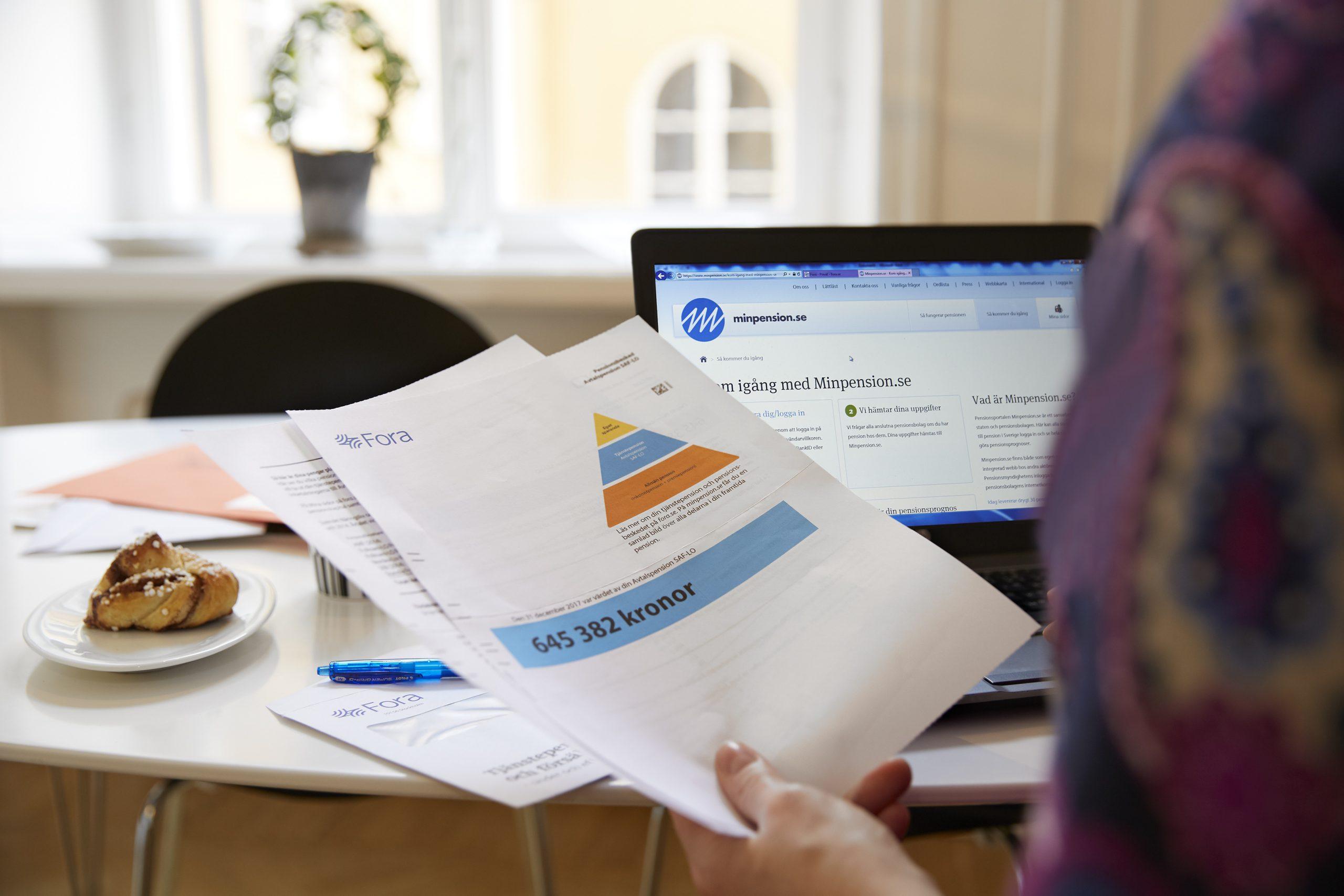 Rapporten till FORA utgör grund för hur mycket pengar som ska föras över till anställdas pensionsförvaltare Bild: Fora, Johan Olsson