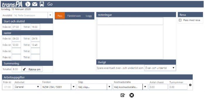 Digital schemaläggare med inbyggd kontroll mot vägarbetstidslagen