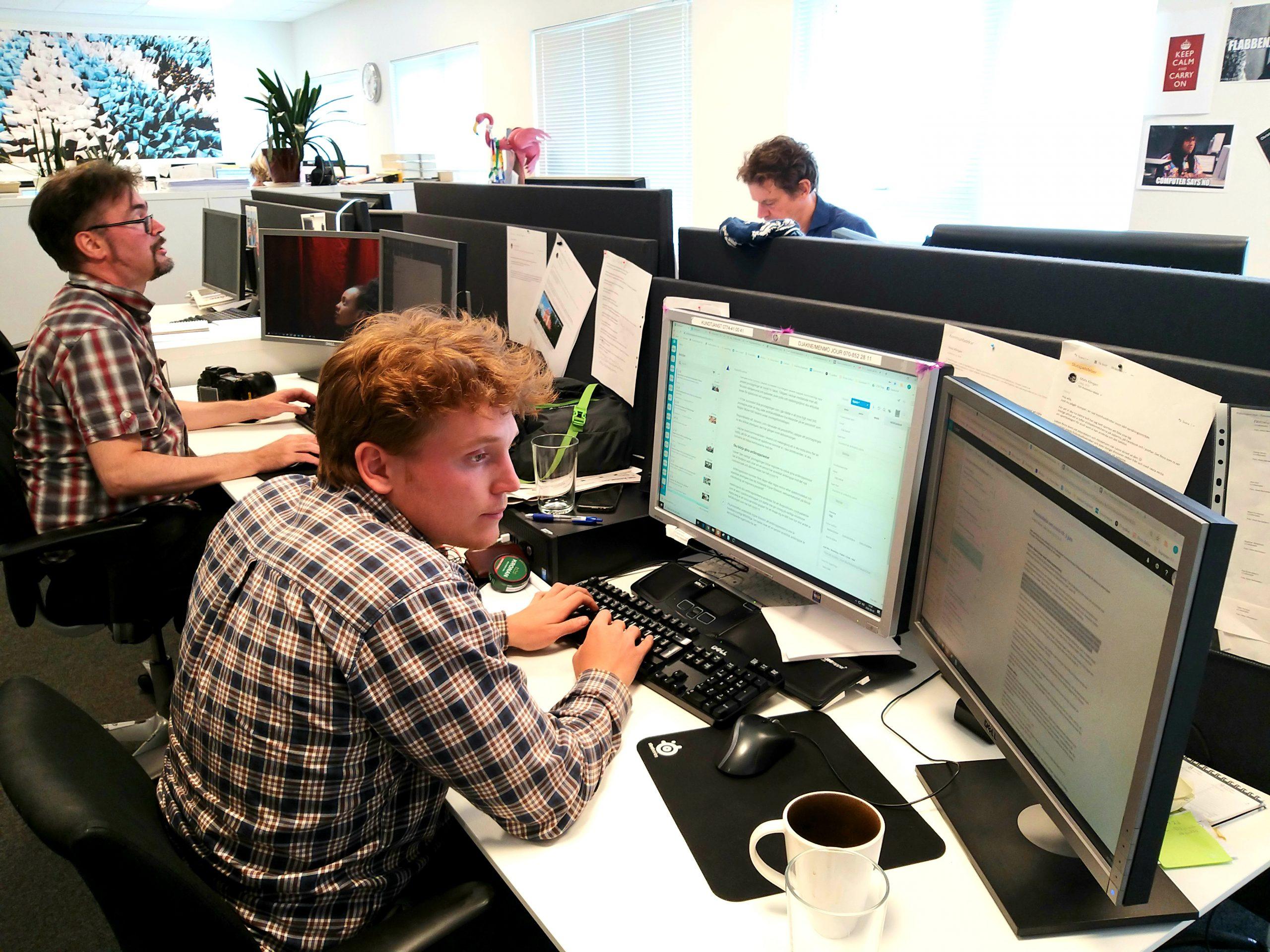 Skånska Dagbladets webbredaktion får sina löner beräknade i Agda PS sedan årsskiftet.