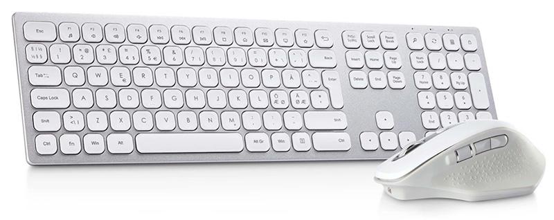 Andersson KDS 3.5-white office kit - Trådlöst tangentbord och mus.