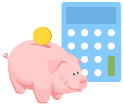 Calculator piggybank